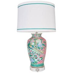 Antique Japanese Porcelain Vase Custom Mounted as a Lamp