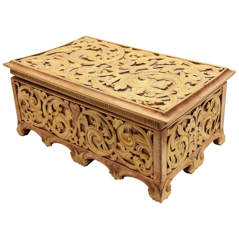 Carved Giltwood Gothic Revival Document Box