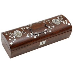 Japanese Rosewood Marquetry Box