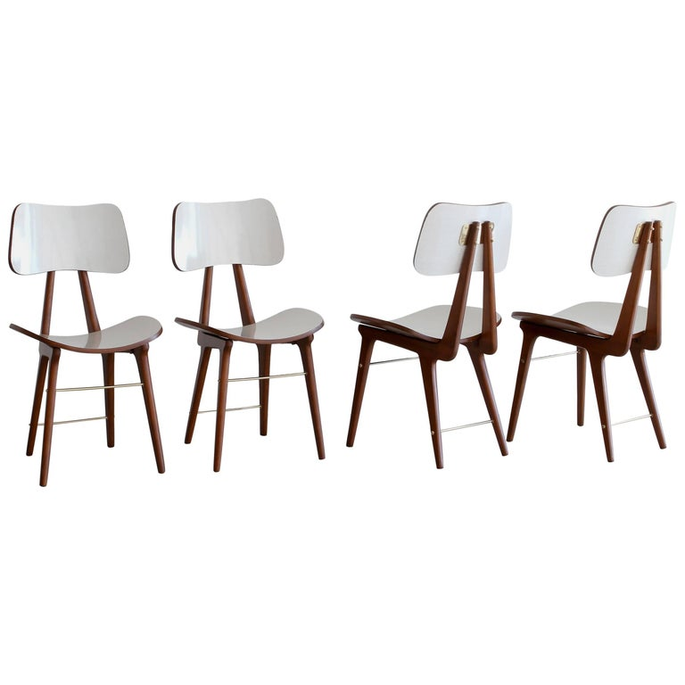 Set of Four Italian Dining Chairs For Sale