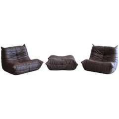 """Togo"" Lounge Chairs and Ottoman by Michel Ducaroy"