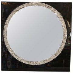 Mirror by Mauro Oliveira Decorated with Crystals