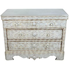Syrian White Mother-of-Pearl Inlay Wedding Dresser