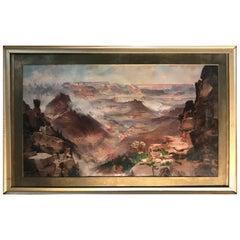 Thomas Moran The Grand Canyon of the Colorado Chromolithograph Print 1893