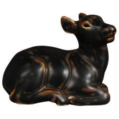 Royal Copenhagen, Brown Young Deer Sculpture, No. 20183, Denmark