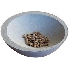 Handmade Cast Concrete Bowl in White by UMÉ Studio