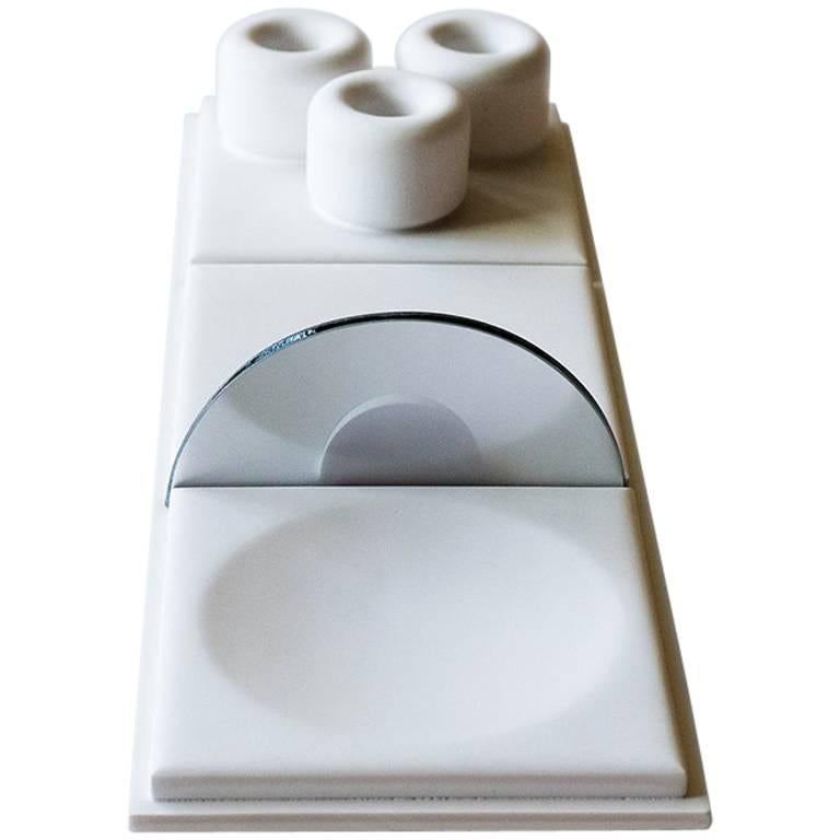 Salle de Bain - S - Handmade Cast Concrete Tray in White by UMÉ Studio