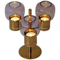 Candleholder Set L67 in Clear Purple, Hans-Agne Jakobsson, Markaryd, Sweden