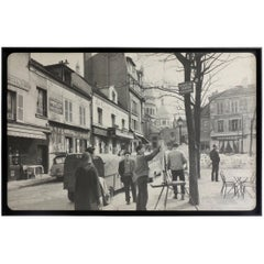 """Photograph Taken in Paris """"Place du Tertre"""", circa 1950"""