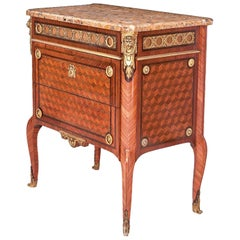 Transition-Louis XVI Style Commode, France, End 19th-20th Century Stamped Jansen