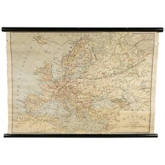 Early European Map from Italy, circa 1960