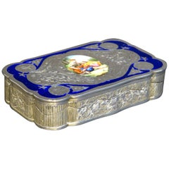 Very Fine 19th Century Austro-Hungarian Silver and Enamel Snuff Box, circa 1890