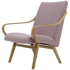 1960 Bentwood Beech Lounge Chair, Czechoslovakia