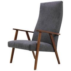 Midcentury Danish Teak High Back Armchair
