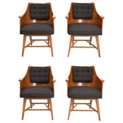 Edward Wormley for Dunbar, Rare Set of Four Armchairs, 1950s