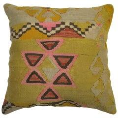 Bohemian Turkish Kilim Rug Pillow