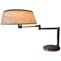 Walter Von Nessen Chrome Structure Desk Lamp