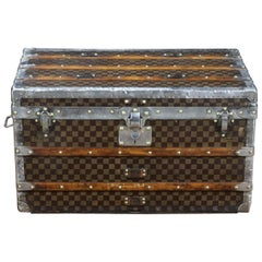 1900s Louis Vuitton Damier Steamer Trunk with Trays