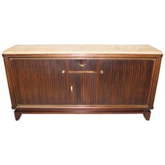 French Art Deco Macassar Ebony Sideboard or Buffet by Maurice Rinck, circa 1940s