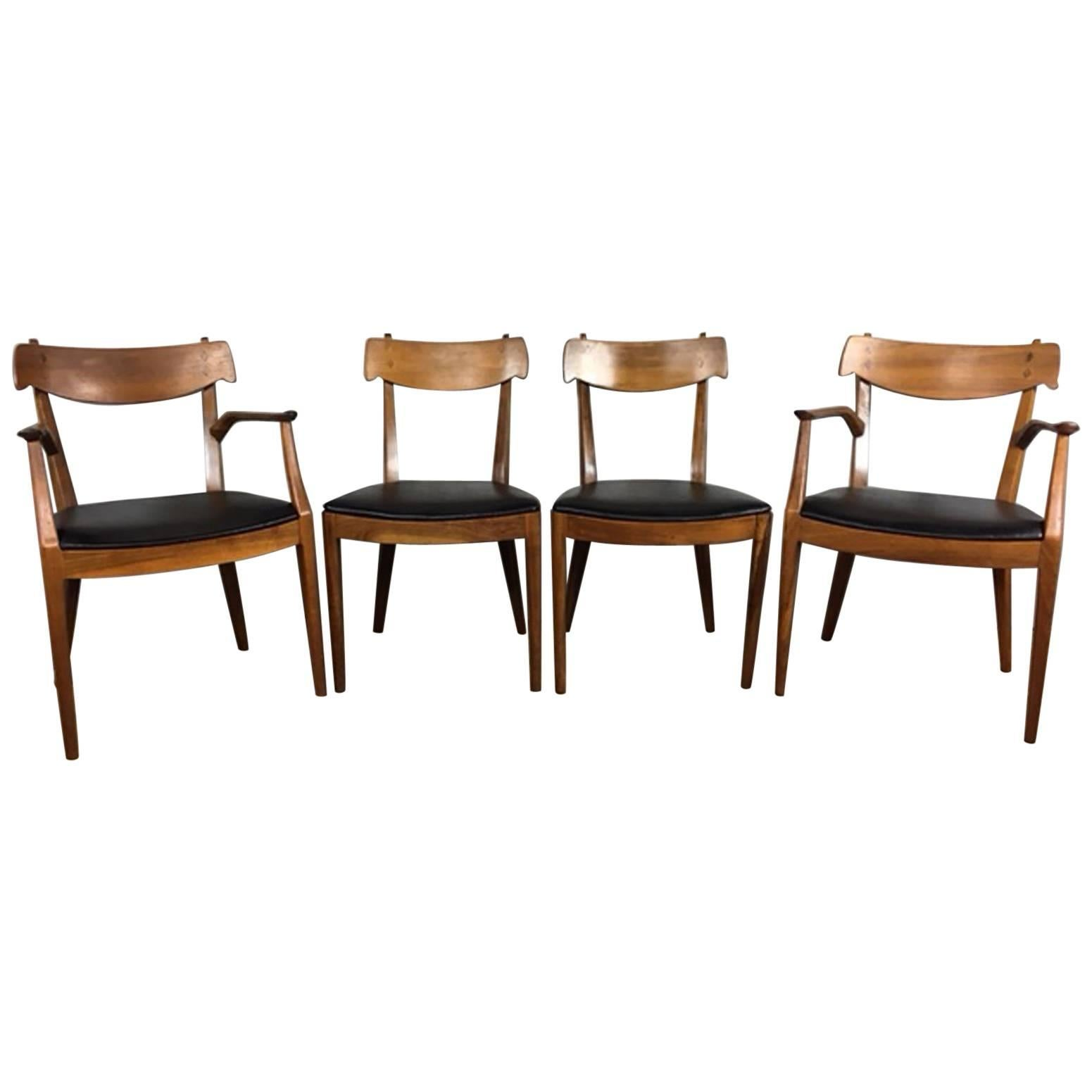 Kipp Stewart Set Of Four Dining Chairs For Drexel For Sale
