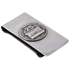 Sterling Money Clip, 25 Years IBM Electric Typewriter Division, 1933-1958