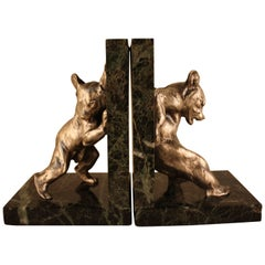 Charles Paillet, 1871-1937, French Bronze Sculpture, Bear Bookends