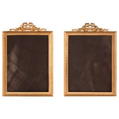 Pair of French Dore Bronze Photo Frames