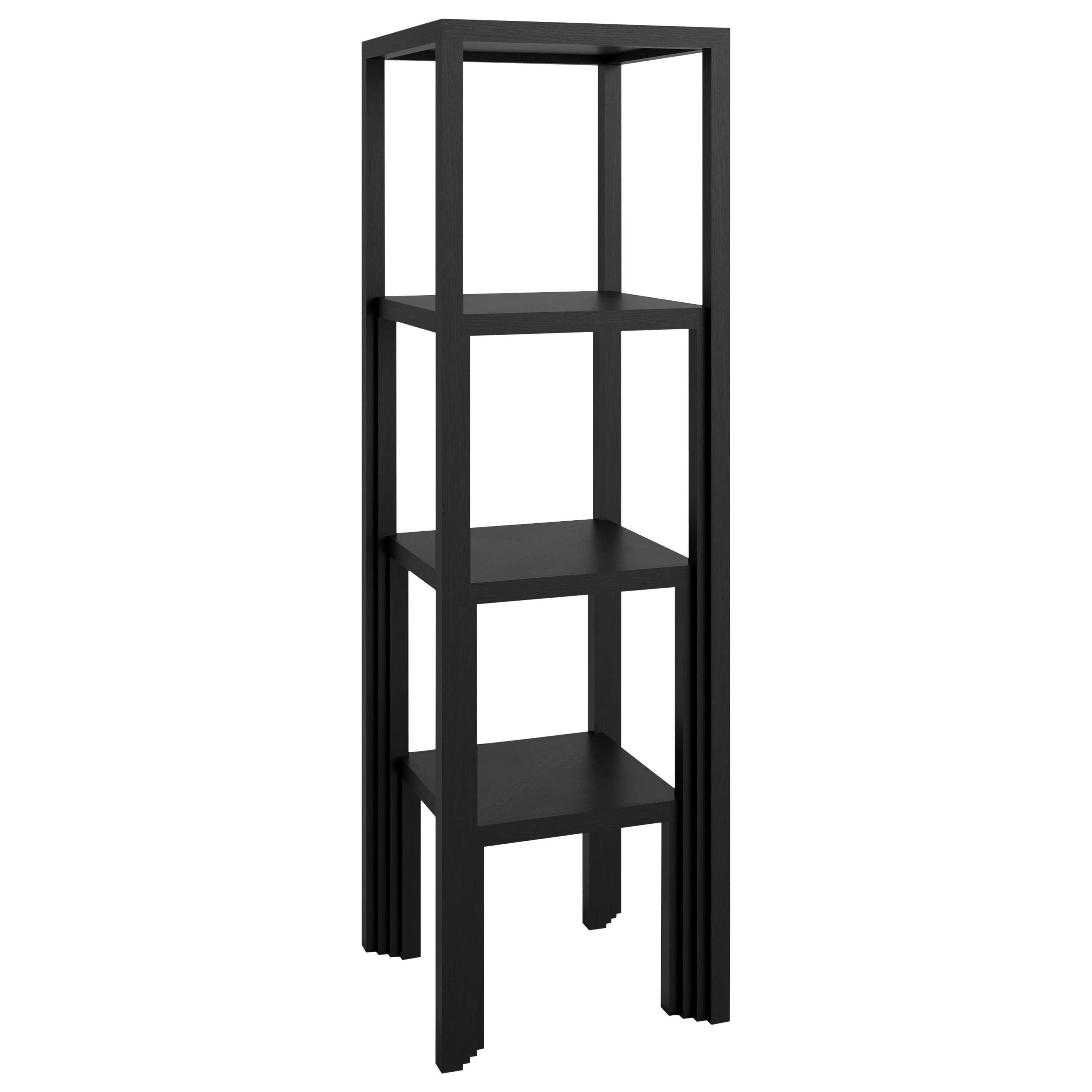 Shelving Unit 'Bookshelf' - Lacquered wood (black) - Art Deco style