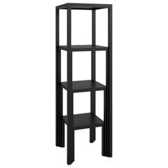 Shelving Unit 'Bookshelf' - Lacquered wood (black) - Art Deco style