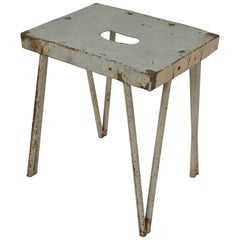 Industrial Style Stool, in Painted Iron 1950s, Italy
