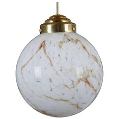 Large Pendants in Art-Glass and Brass