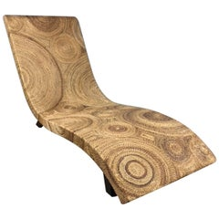 Twine Wrapped Chaise Lounge Chair