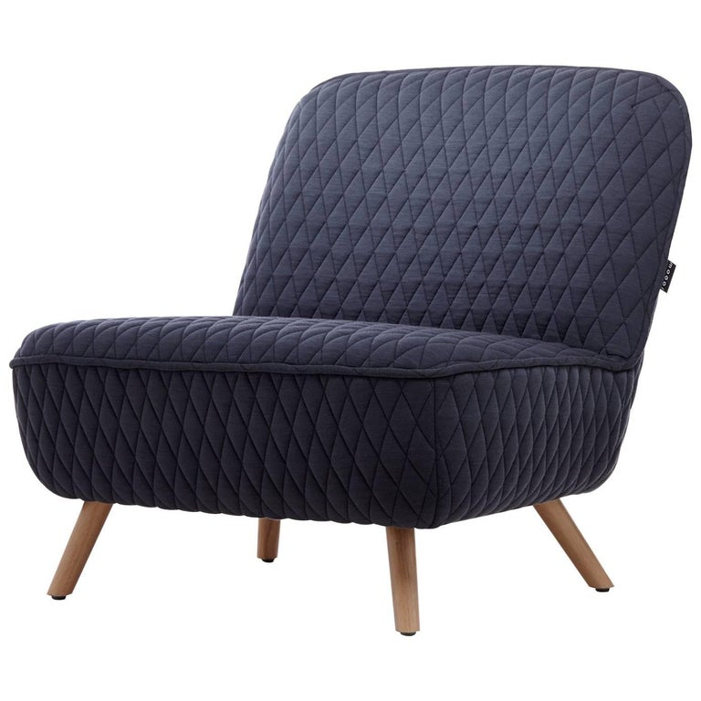 """Moooi """"Cocktail"""" Chair by Marcel Wanders with Wooden Legs and Upholstered Body"""