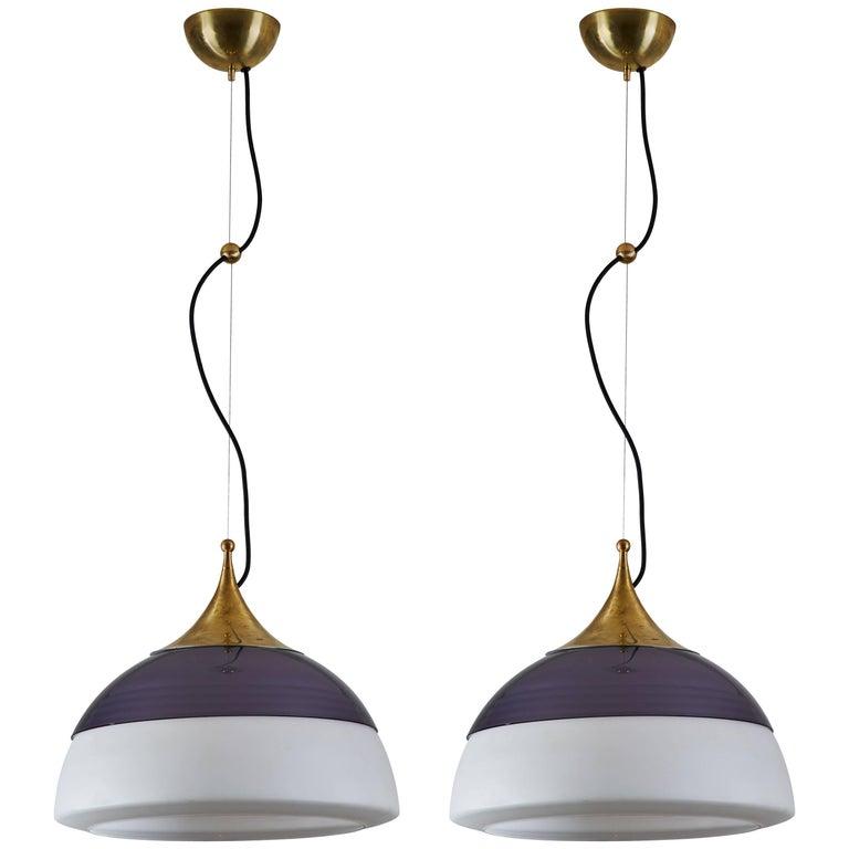 Two Suspension Lights by Stilnovo For Sale