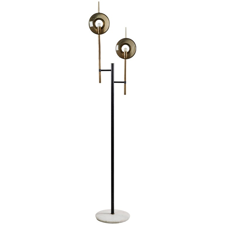 Rare Floor Lamp in the style of Angelo Lelli for Arredoluce For Sale