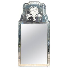 Large Venetian Console Mirror
