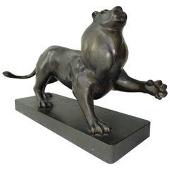 Roberto Estevez, Signed, Lion in Bronze