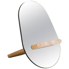 Tenon Mirror with Mirropane and Birch by UMÉ Studio