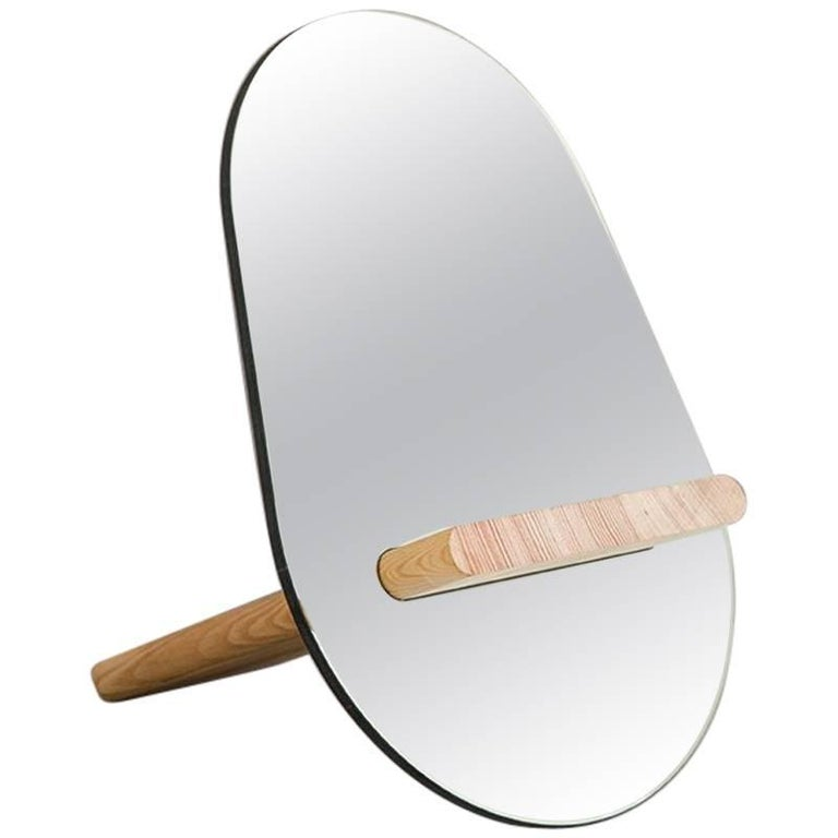 Tenon Mirror with Mirropane and Birch by UMÉ Studio For Sale