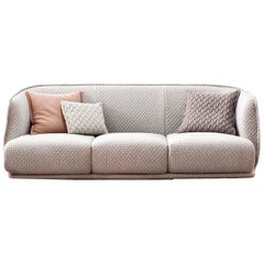 Moroso Redondo Three-Seat Sofa in Tufted Upholstery by Patricia Urquiola