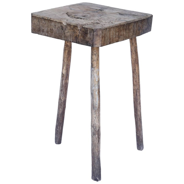 Rustic Three Legged Table From France At 1stdibs