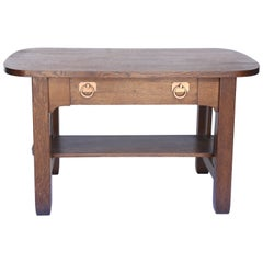 Oak Arts and Crafts Era Library Table