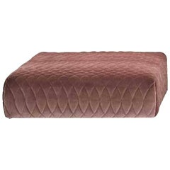 Moroso Redondo Pouf / Ottoman in Tufted Upholstery by Patricia Urquiola