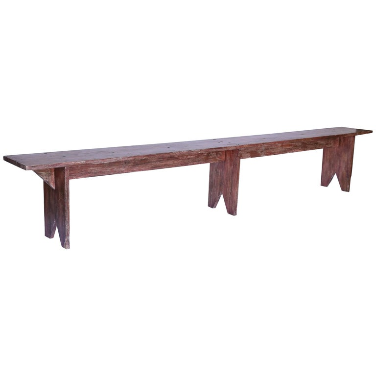 Wooden Bench from France