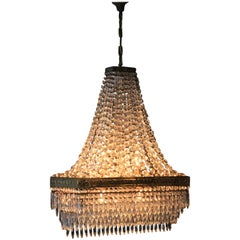 Rectangle Crystal Chandelier Brass Lustre Ceiling Square