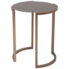 Covet Brass Side Table by Soraya Osorio
