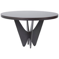 Papillon Metal and Glass Round Dining Table by Soraya Osorio