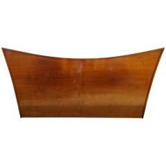 Handsome Nakashima Style Walnut King-Size Headboard Mid-Century Modern