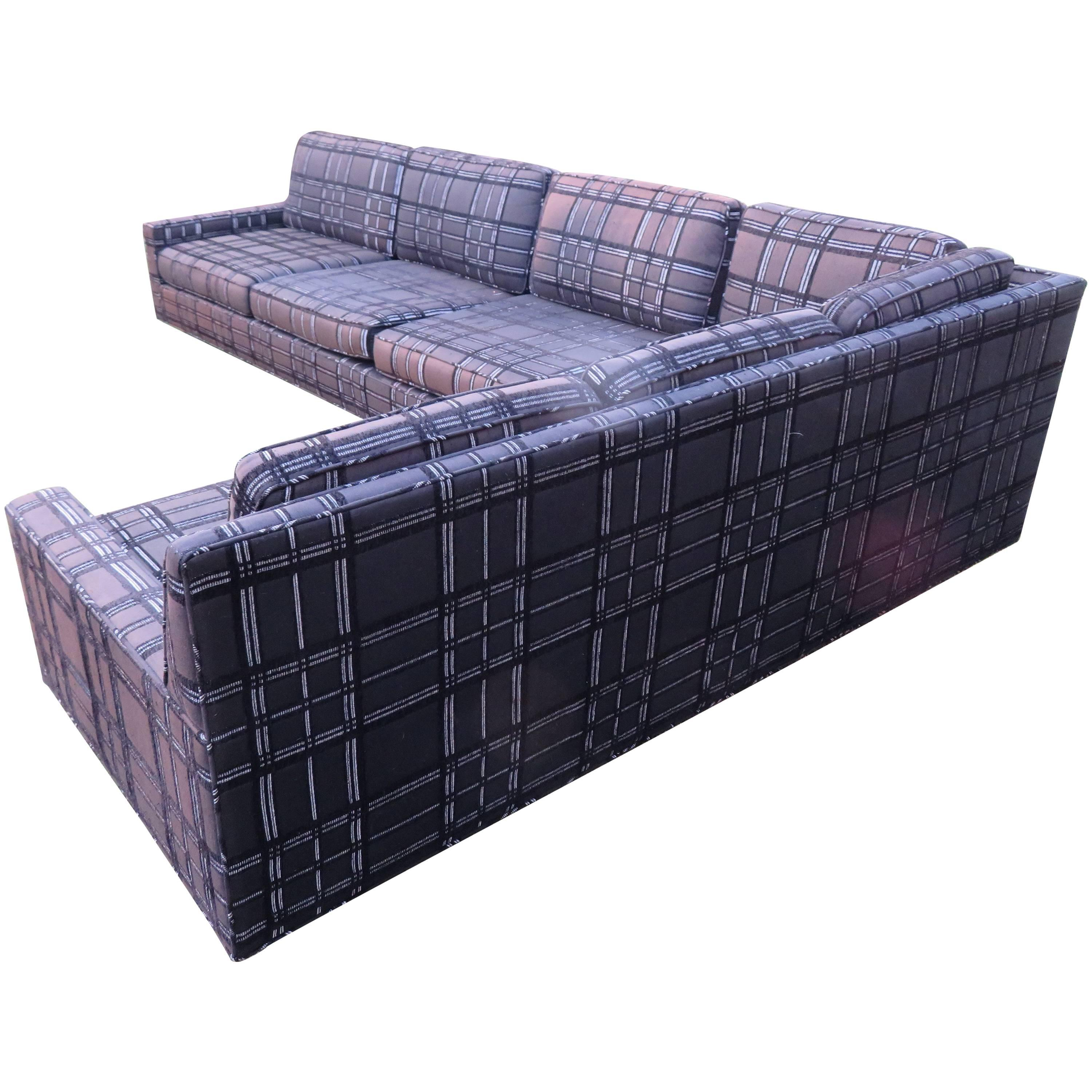 stunning signed harvey probber twopiece sectional sofa midcentury modern