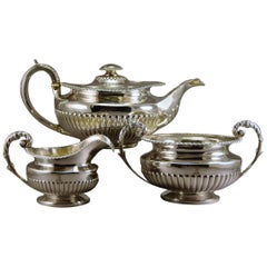 Sterling Silver Tea Set, Rebecca Emes and Edward Barnard, London, 1823